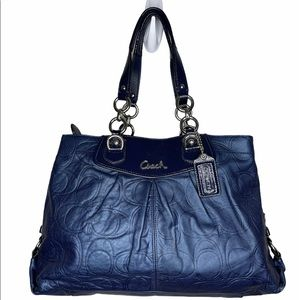COACH Ashley Embossed Leather Carryall